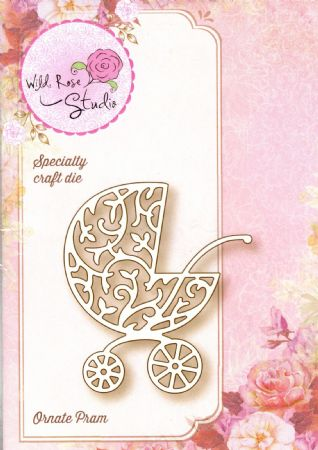 Ornate Pram Speciality Craft Die By Wild Rose Studio - SD040